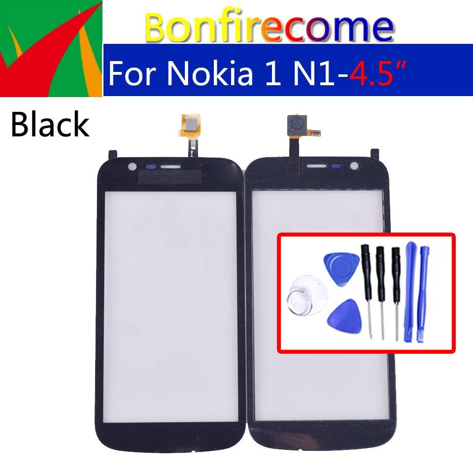 Para Nokia 1 N1 pantalla táctil Panel digitalizador Sensor cristal frontal exterior pantalla táctil reemplazo 4,5 pulgadas