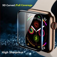 Vetro morbido per Apple Watch 7 45mm 41mm serie iWatch 6 5 4 3 se 44mm 40mm 42mm 38mm 9D HD Full Film pellicola salvaschermo per Apple watch