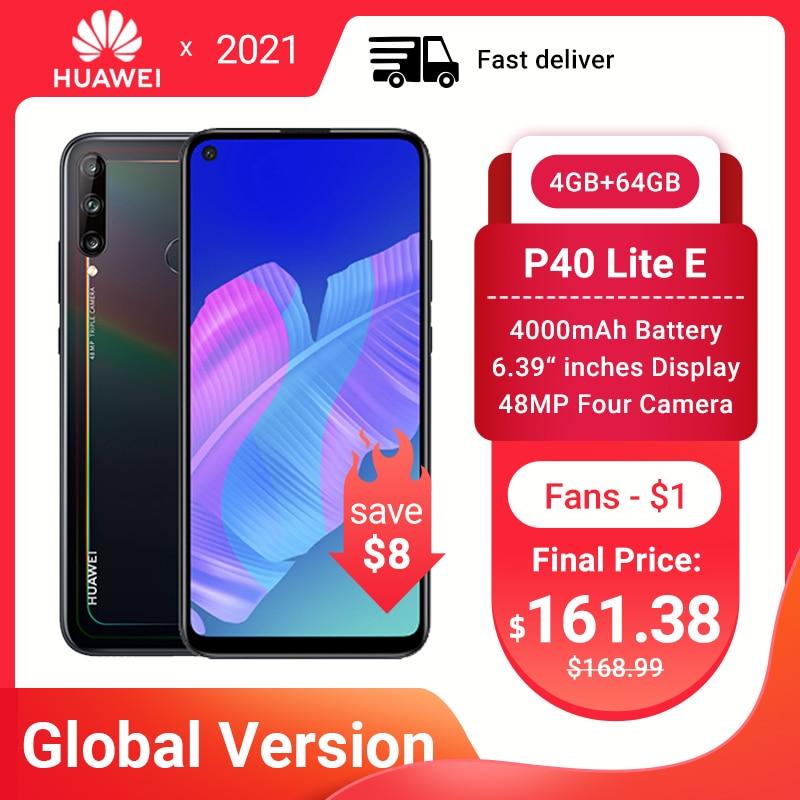 Глобальный Huawei P40 Lite E смартфон NFC версия 4 + 64 ГБ тройной камеры 48 МП AI камеры 6,39 дюйм FHD экран Kirin 710 Octa Core