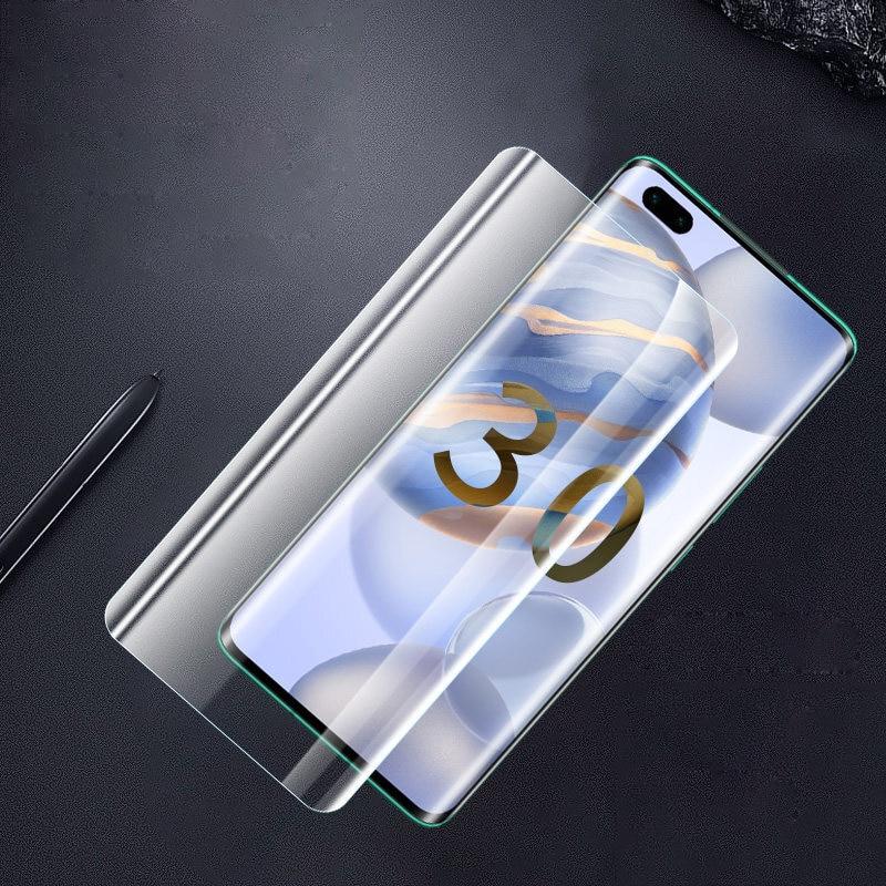 מלא דבק UV זכוכית עבור Huawei Honor 30 פרו בתוספת 5G 3D מעוקל מסך מגן לכבוד 30 פרו מזג זכוכית מגן סרט
