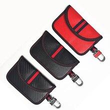 Faraday Car Key Wallet Protect Key Fob RFID Signal Blocking Bag PU Leather Anti-Theft Pouch Anti-Hac