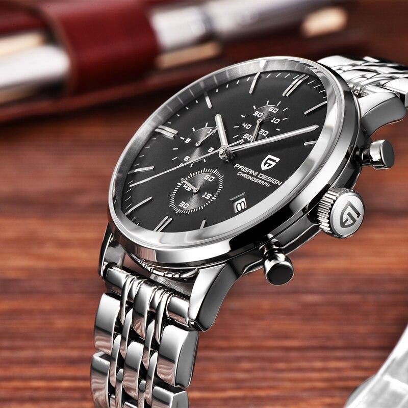 Pagani Design 2021 New Men's Mechanical Watch Casual Fashion Men's Watch Stainless Steel Waterproof Leather Men's Quartz Watch enlarge