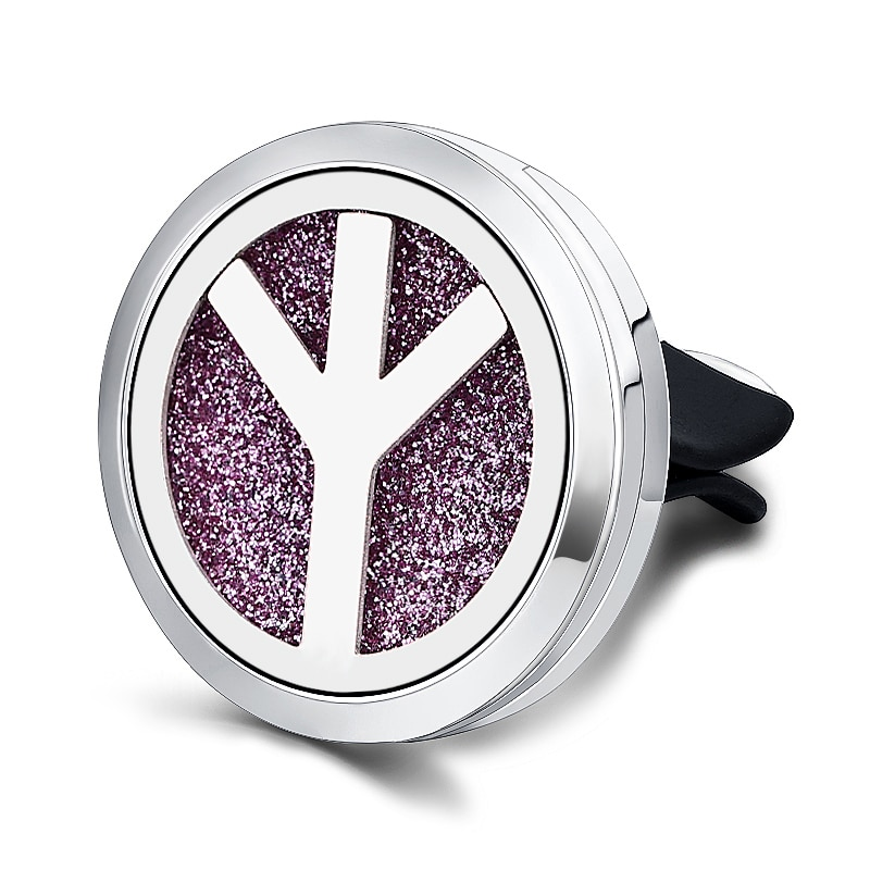 Refillable Car Air Freshener Smell Perfume Diffuser Clip Auto Vent Essential Oil Stainless Steel Locket Interior Accessories