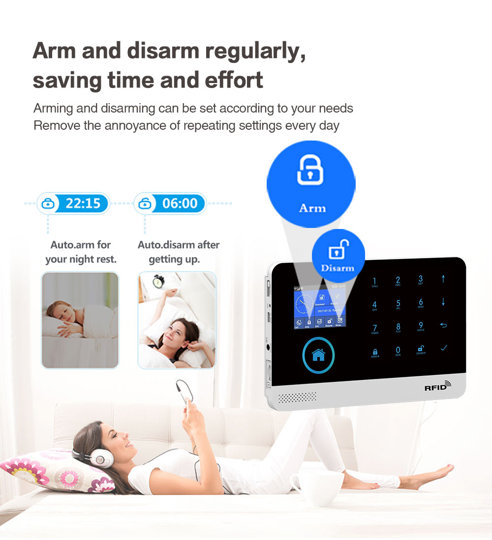 TUYA Wireless WIFI GSM Home Security Alarm System With Pet-Proof PIR Motion Sensor Detector Compatible With Alexa & Google Home enlarge
