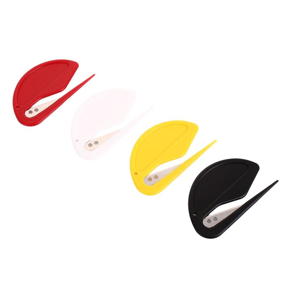 Cortadores con forma de letras abiertas, hoja barata segura 2 unids/set de papel, suministros de oficina, abrecartas de protección