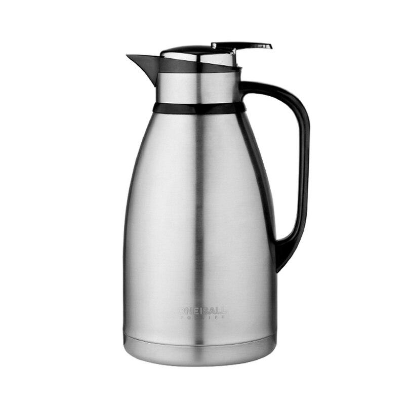 الترمس وعاء سعة كبيرة 304 الفولاذ المقاوم للصدأ المغلي زجاجة ماء ترموس تفريغ المياه إبريق لإعداد الشاي والقهوة للمنزل في الهواء الطلق 2.5L 3L