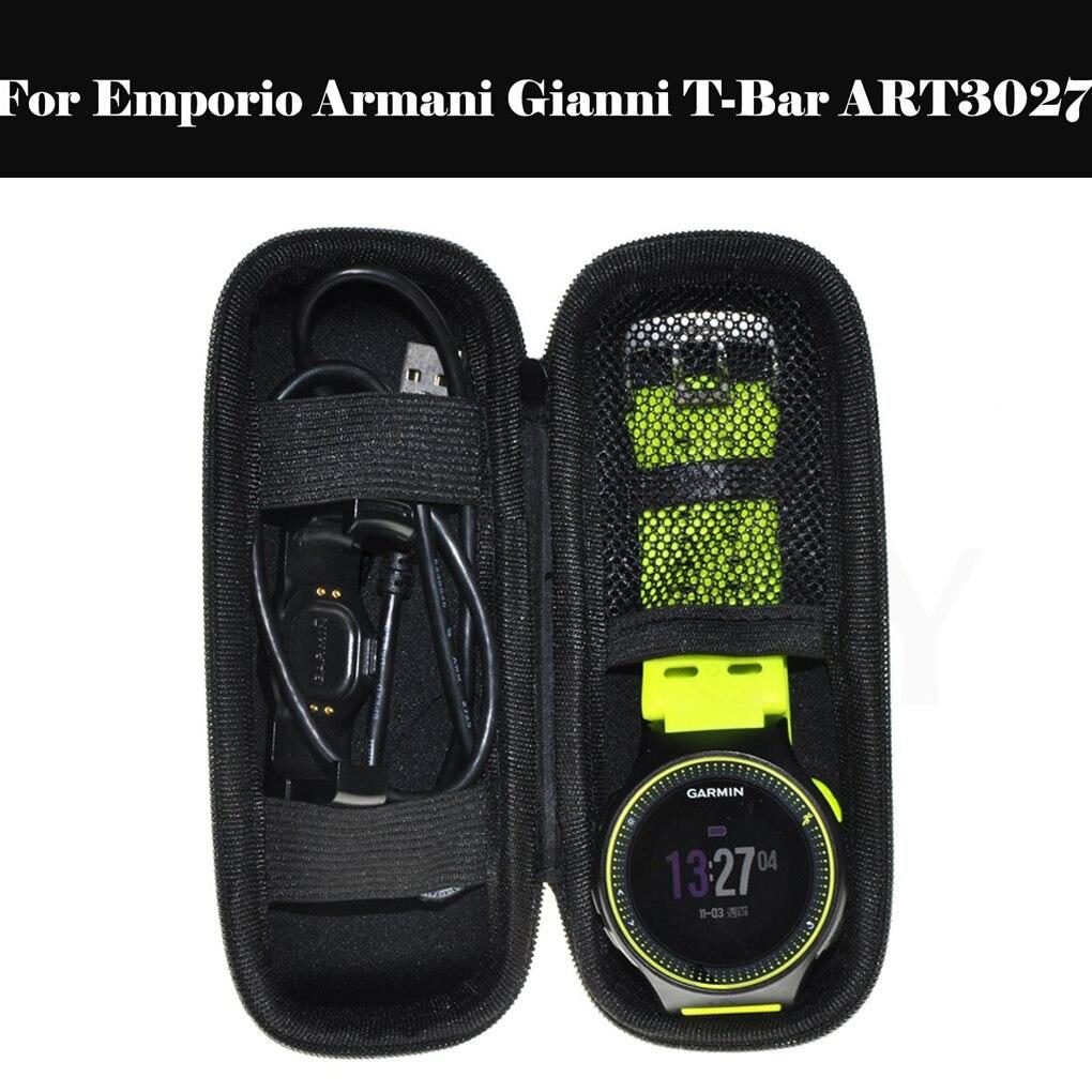 Personalidade carry caso capa protetora portátil smartwatch saco de armazenamento para emporio armani gianni t-bar art3027