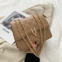 qyahlybz band fashion ins popular ladies shoulder messenger bag chain small women leather white handbags female crossbody bags