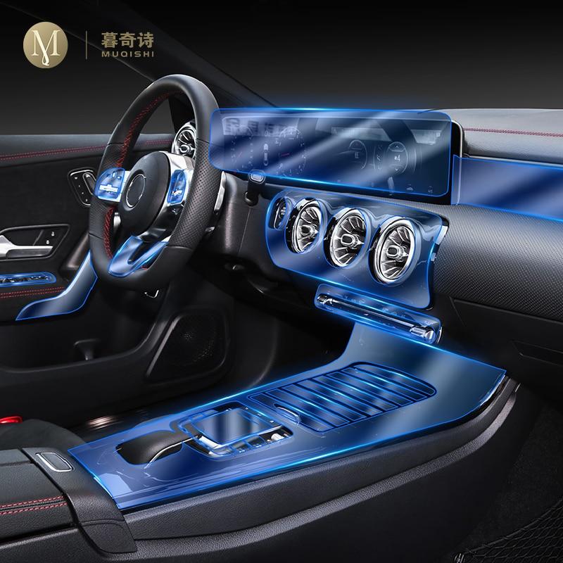 For Mercedes Benz CLA a200 a260 2020 Car Interior Center console Transparent TPU Protective film Ant