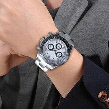 Graviton 39 مللي متر ساعة كوارتز الرجال كرونوغراف العلامة التجارية الفاخرة ساعة مقاوم للماء الياقوت الكريستال ساعة اليد اليابان حركة VK63