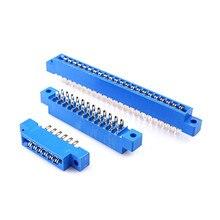 Connecteur de bord de carte 805 10 pièces   3.96mm Pitch 8 12 16 20 24 30 36 44 56 72 broches PCB or doigt carte fente fil de soudure