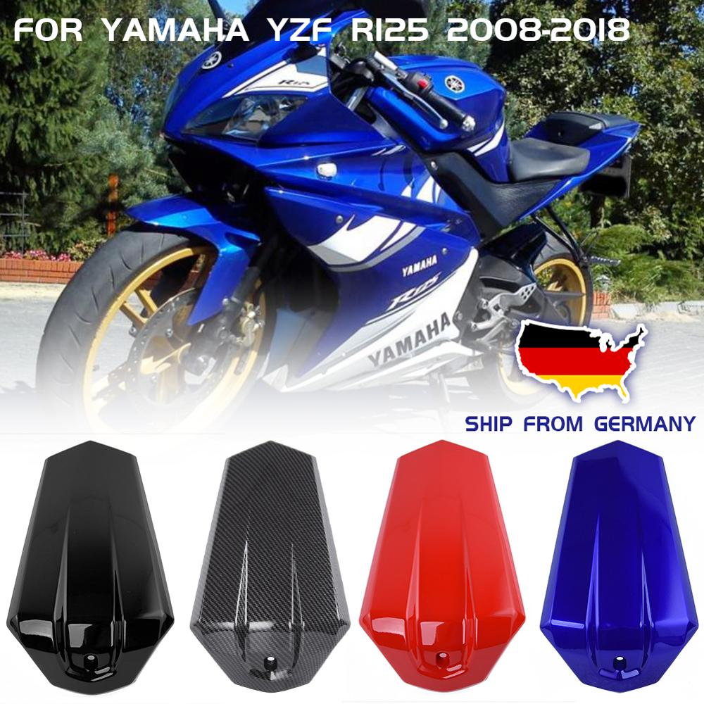 Motorcycle Rear Passenger Solo Seat Cowl Cover Pillion For Yamaha YZF R125 R 125 2008-2018 16 2017 Carbon Seat Fairing Injection