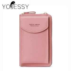 YOJESSY Women Bag Phone Pocket Pu Leather Ladies Crossbody Bags Purse Female Messenger Bag