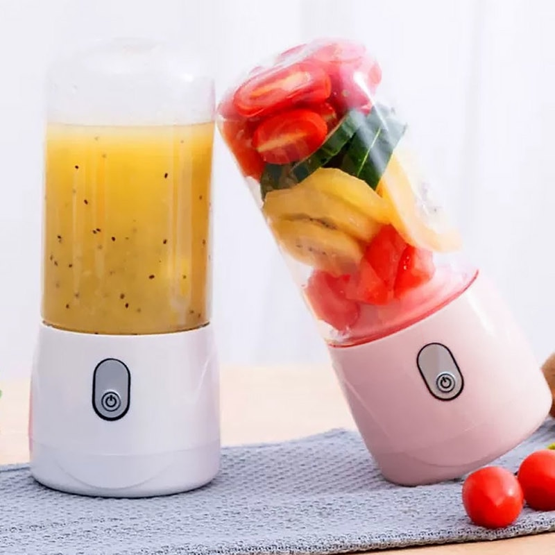 Exprimidor de frutas eléctrico portátil, 300ml, recargable por USB, licuadora batidora, Mini taza de zumo, batidora rápida, procesador de alimentos