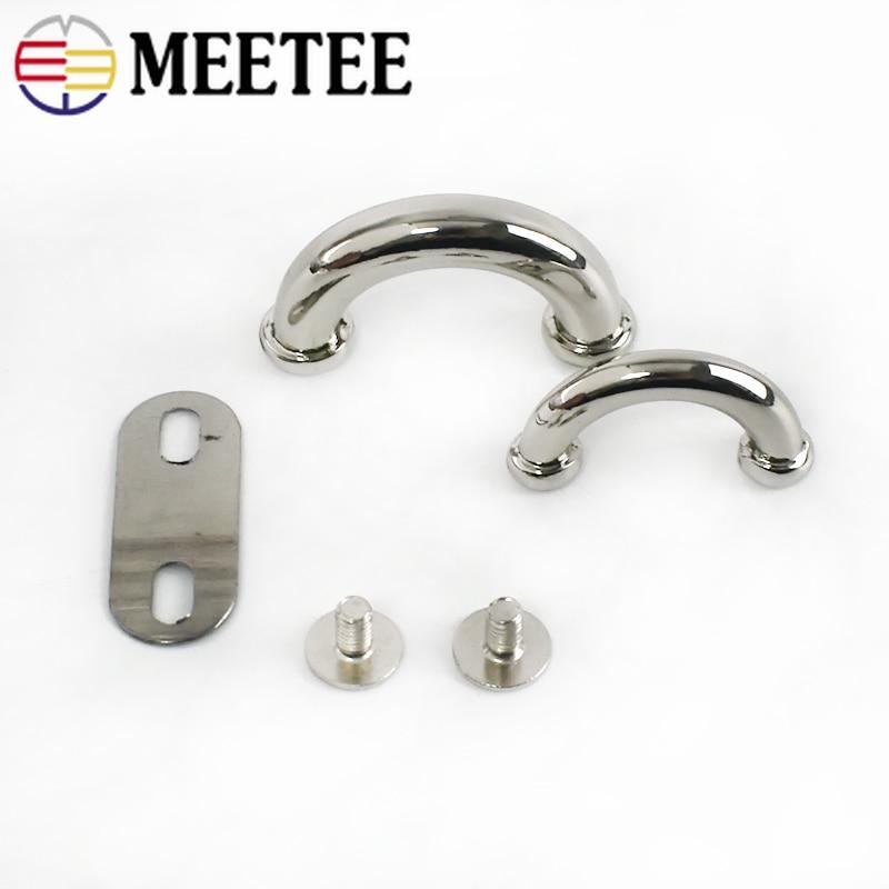 Купить с кэшбэком Meetee 10pcs 14/17mm Metal Bag Arch Bridge D Ring Buckle Strap Hook DIY Handbag Hardware Belt Leather Repair Accessories BD302