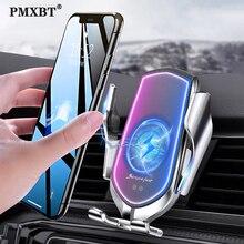 Qi Беспроводное Автомобильное зарядное устройство с датчиком автоматического зажима держатель для телефона с вентиляционным отверстием 10 Вт Быстрая зарядка для iPhone 11 Pro Huawei P30 Pro