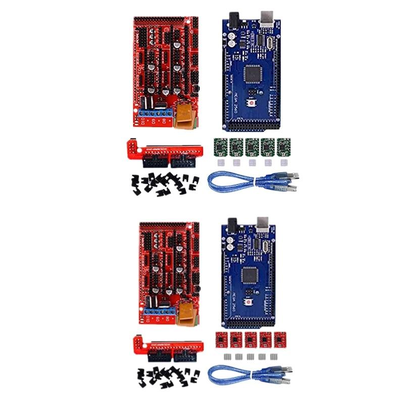 ثلاثية الأبعاد لوحة التحكم للطابعة عدة 2560 R3 تحسين المجلس + سلالم 1.4 + 4988 سائق مع بالوعة الحرارة