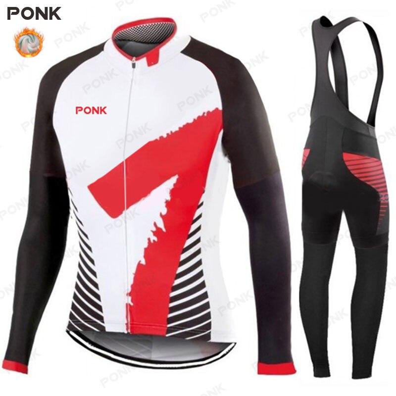 Conjunto de Jersey y pantalones térmicos de lana para Ciclismo para hombre,...