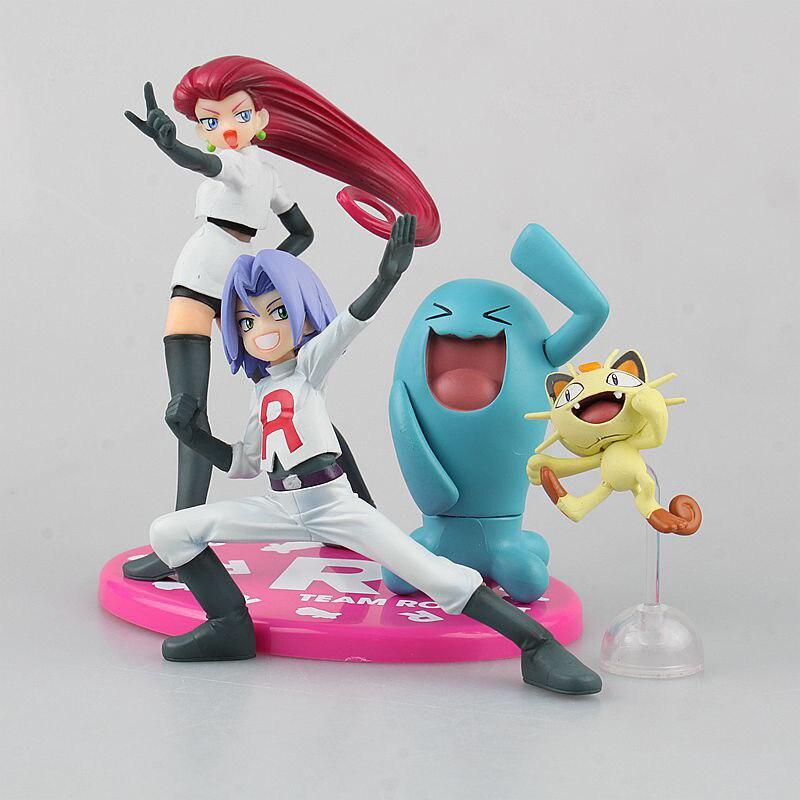 Takara Tomy cohete equipo Wobbuffet James Meowth Pokemon garaje Kits de Anime figura de acción modelo juguetes para los niños