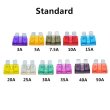 50 pcs/100 pcs Automotive fuses, fuse standard, 2A, 3A, 5A, 7.5a, 10A, 15A, 20A, 25A, 30A, 35A