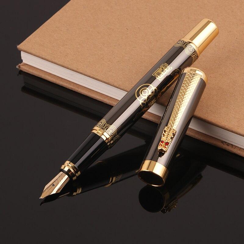 Caja de Metal de lujo de alta calidad para bolígrafo, bolígrafos de caligrafía para firma de escritura, suministros de papelería para oficina y Escuela 03933