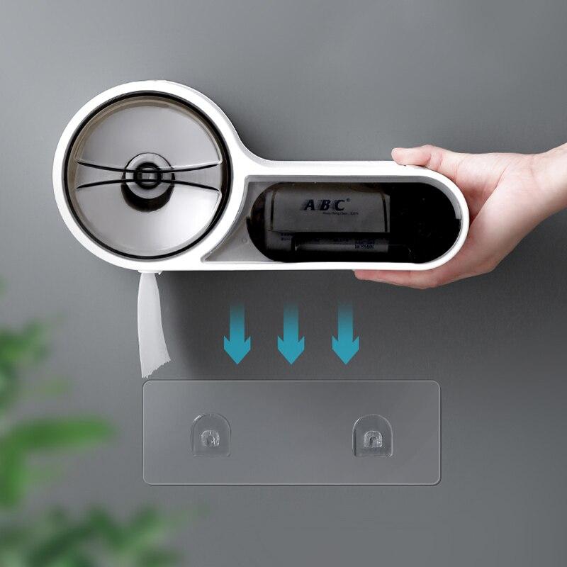 Waterproof Toilet Paper Holder Creative Tissue Dispenser For Bathroom Portable Toilet Paper Roll Holder Storage Box enlarge