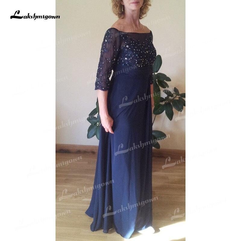 Vestidos De gasa De tres cuartos para Madre De La Novia, Vestidos...