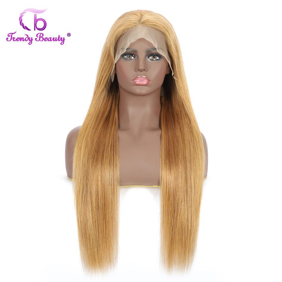 13x4 Lace Front Human Hair Wigs Peruvian Wigs 180% Straight Color 27 Lace Frontal Wigs For Black Women PrePlucked Human Hair Wig