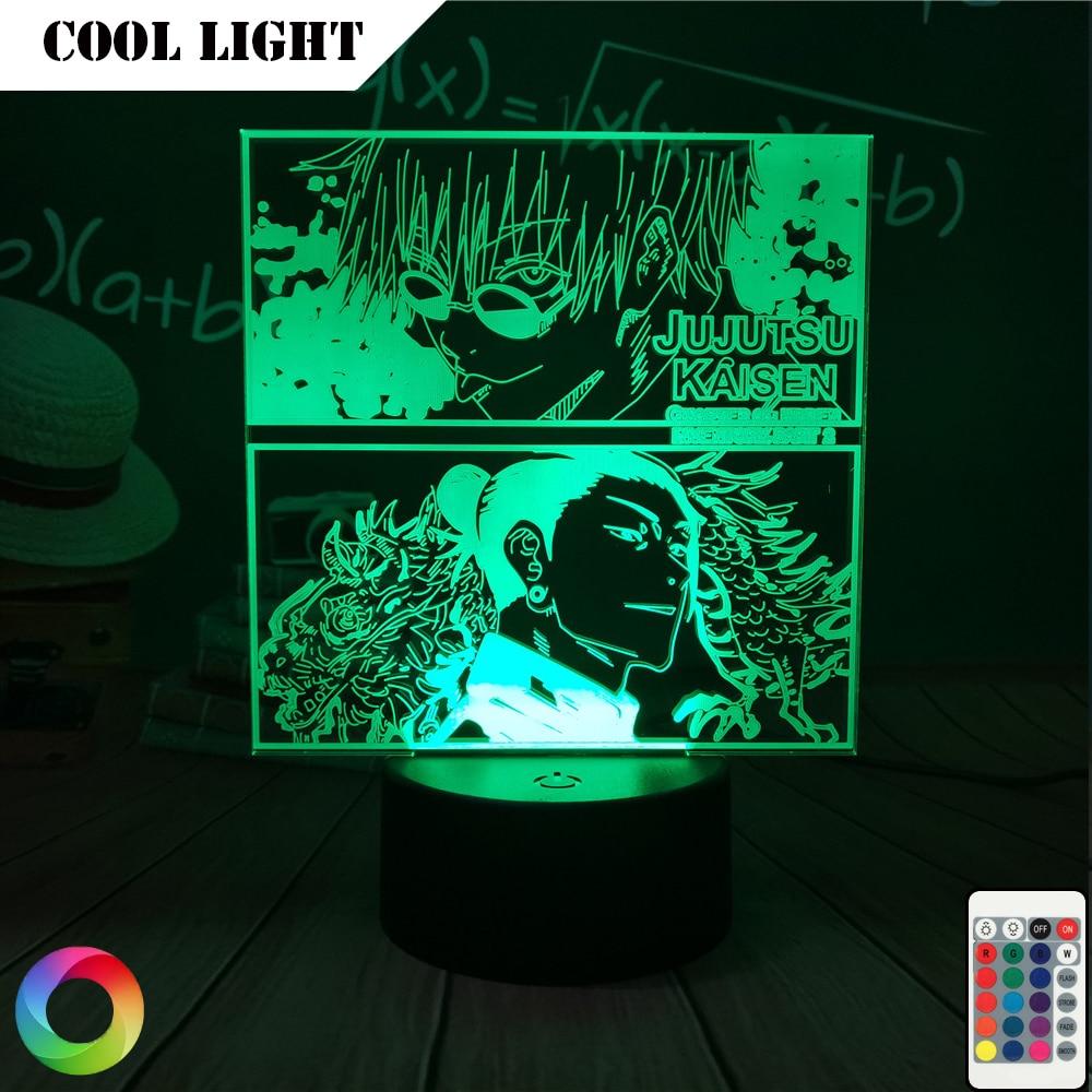 Anime Lamp Jujutsu Kaisen Led cool Night Light for Bedroom Decor nightlights Gift Acrylic Neon 3d Dropshipping