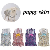 dog summer dress pet cat new year party dress girl wedding floral bow dress skirt puppy go out clothes for small medium dogs