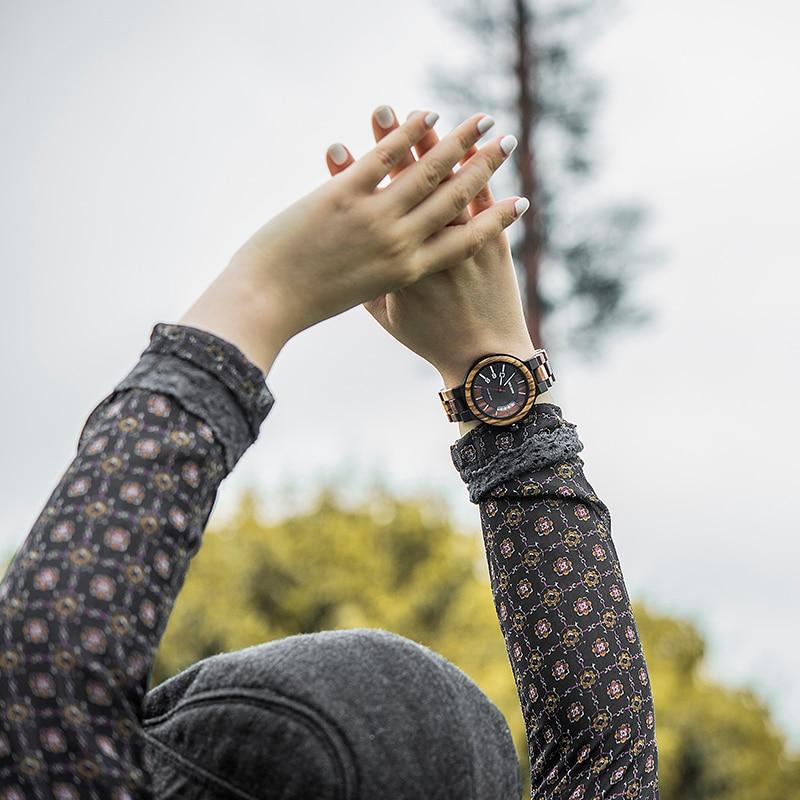 DODO DEER Women Quartz Watches Luminous Hand Zebra Wood Wristwatch Ladies Female Auto Date Waterproof OEM Dropshipping enlarge