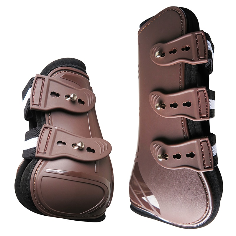 Horse tendon boots,PU shell,neoprene lining.To protect the legs of your horse from injury