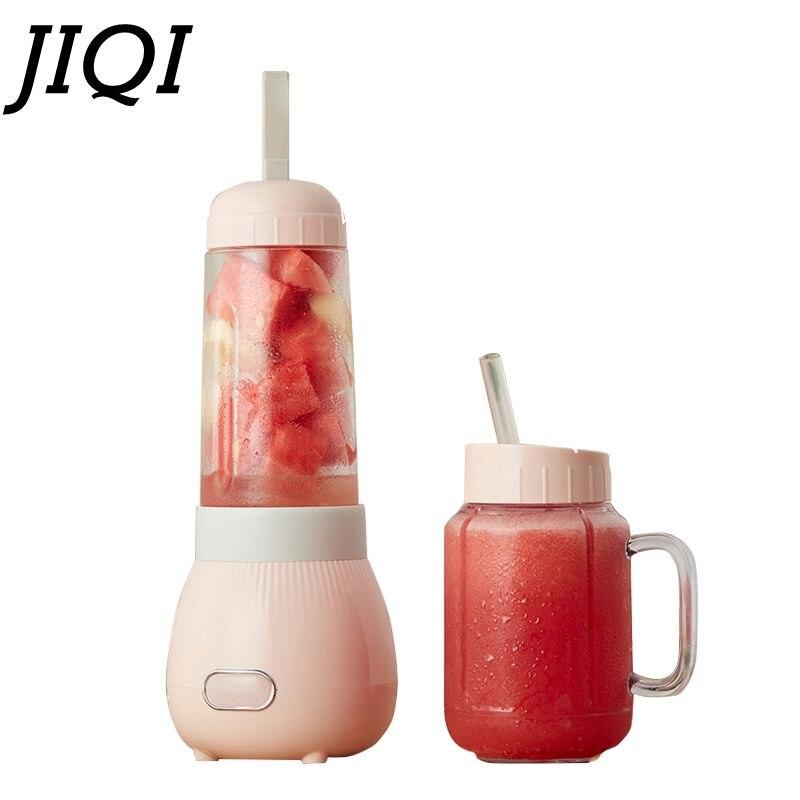 JIQI متعددة الوظائف المحمولة الكهربائية عصارة الخضروات الفاكهة النازع الآيس كريم الحليب هزة خلاط عصائر النازع 2 أكواب