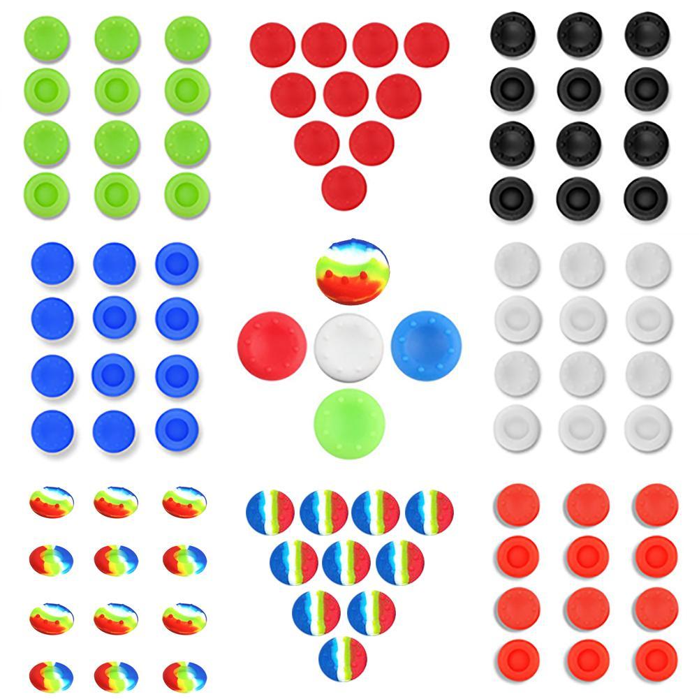 10 Uds tapas de silicona Thumbstick para Microsoft Xbox One, Xbox 360, controlador analógico Sony PS4 teclas de pulgar juegos