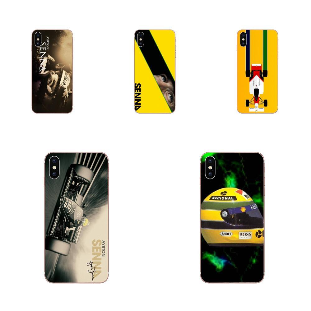Funda de teléfono móvil de TPU blando, funda Ayrton Senna para casco Galaxy Grand A3 A5 A7 A8 A9 A9S On5 On7 Plus Pro Star 2015 2016 2017 2018