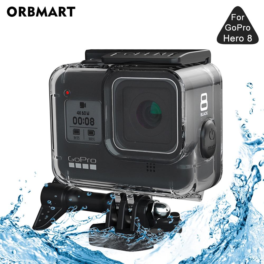 ORBMART-Funda carcasa resistente al agua para GoPRo Hero 8, 60M, funda protectora,...