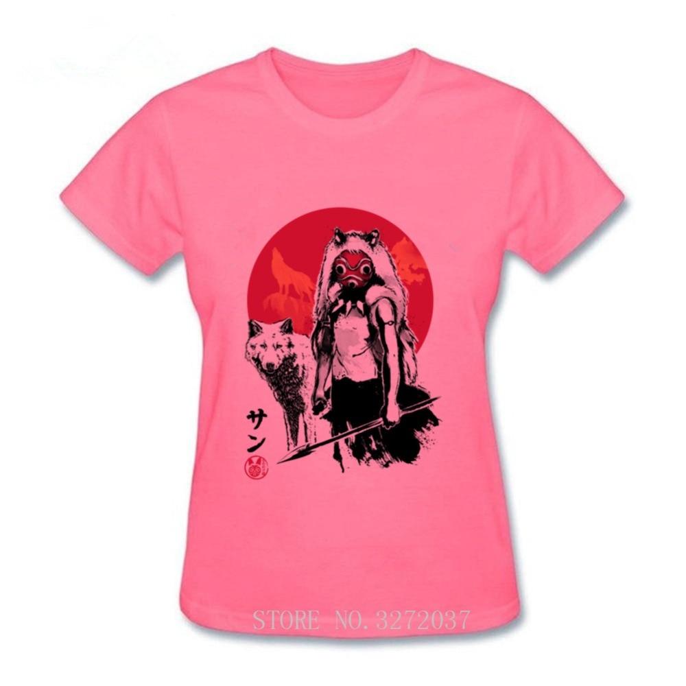 2020 nueva camiseta Mononoke Wolf Girl sumi-e Mononoke Neighbor Totoro Studio Ghibli Camiseta 100% de algodón de manga corta