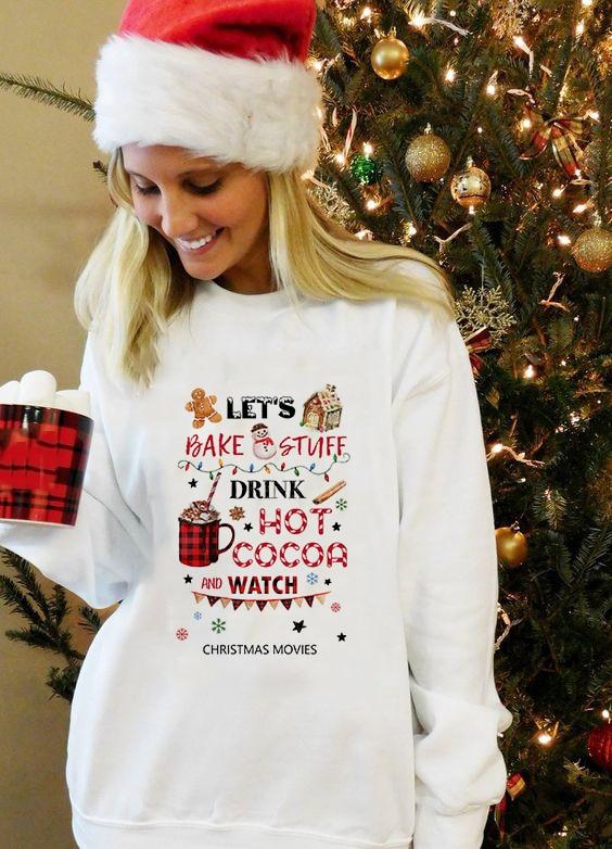 Camisola de natal das mulheres xadrez caminhão de natal feliz natal camisa de natal com capuz pulôver manga longa casual roupas moletom