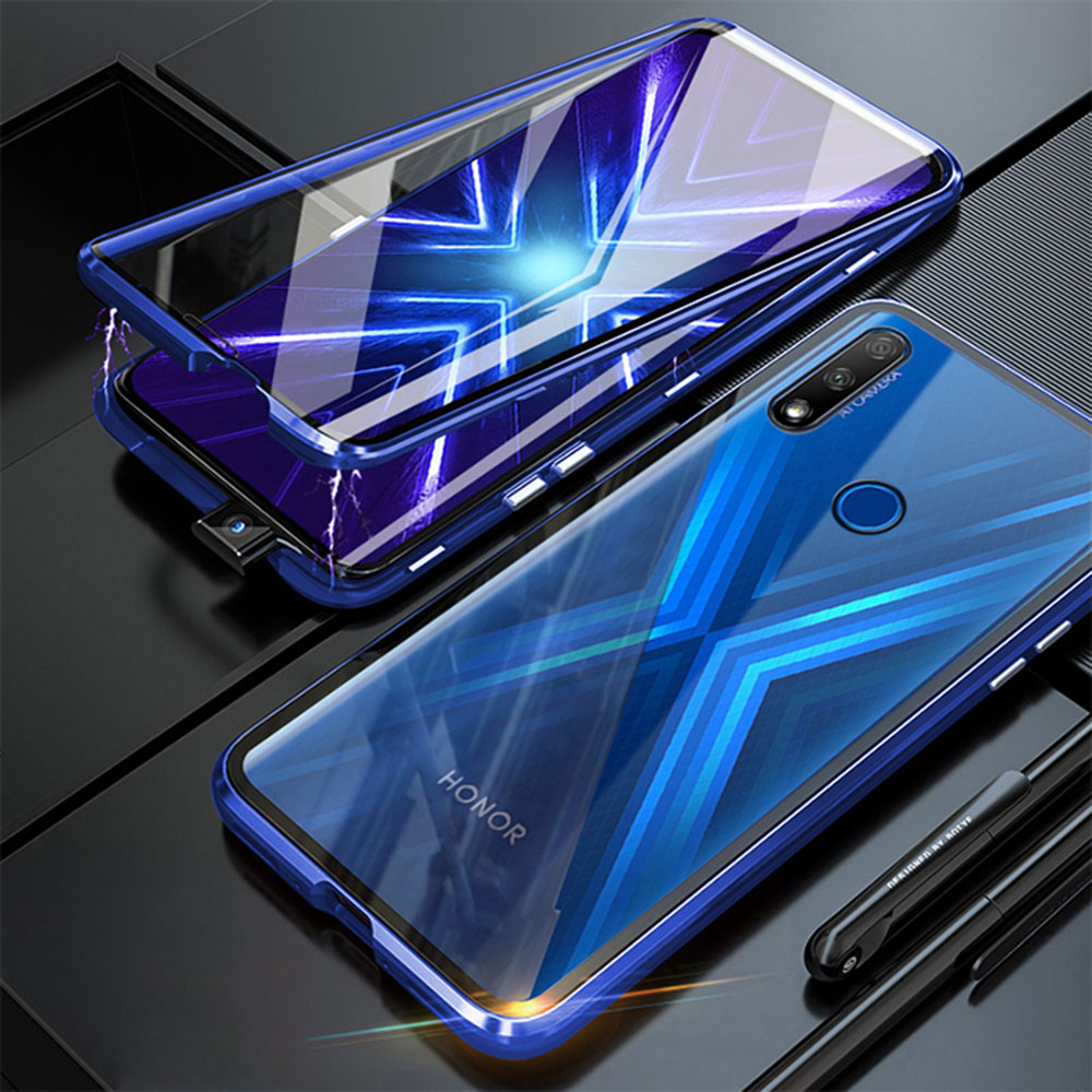 Magnetic Phone Case For Huawei Honor 9X STK-LX1 Premium Global Double Side Tempered Glass phone Cover on Honor 9 X honor9x coque