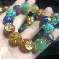 orgone energy healing crystals seven chakra jewelry ogan energy stone bracelet women positive energy stone bracelet
