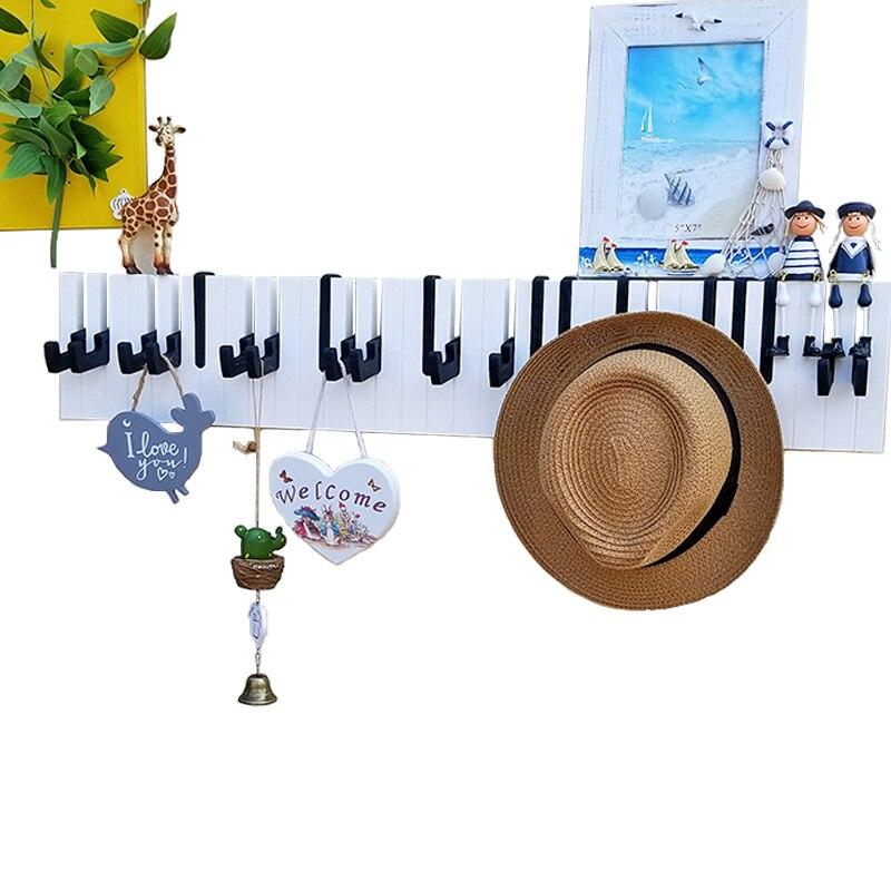 مدخل البيانو هوك الجدار الشنق الزينة شماعات خطاف المفاتيح شخصية الإبداعية هوك معطف الرف
