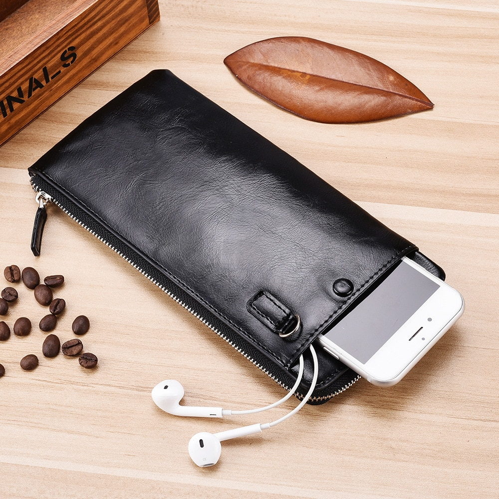 Men Wallets Classic Long Style Card Holder Male Purse Quality Zipper Large Capacity Big for cellphon