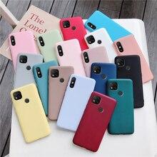 ซิลิโคนโทรศัพท์กรณีสำหรับXiaomi Redmi 9C Nfc 9A 9AT Matte Soft TpuปกหลังXiaomi Redmi9c Redmi9a fundas Coque