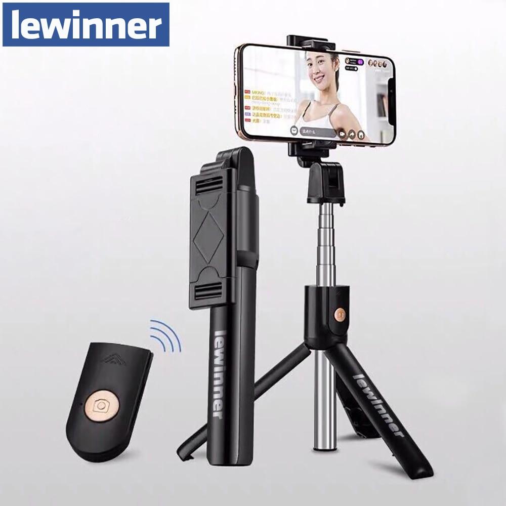 Lewinner 3 en 1 palo de Selfie inalámbrico Bluetooth para iphone/Android plegable de mano Monopod obturador remoto extensible Mini trípode