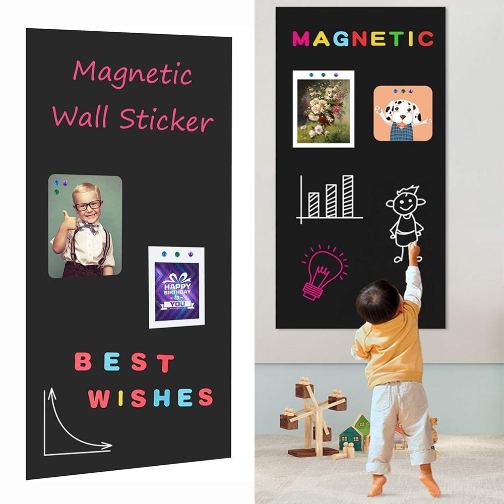 Меловая магнитная доска, контактная бумага для стен, самоклеящаяся меловая доска, настенная бумага, обучающая доска для дома и детей