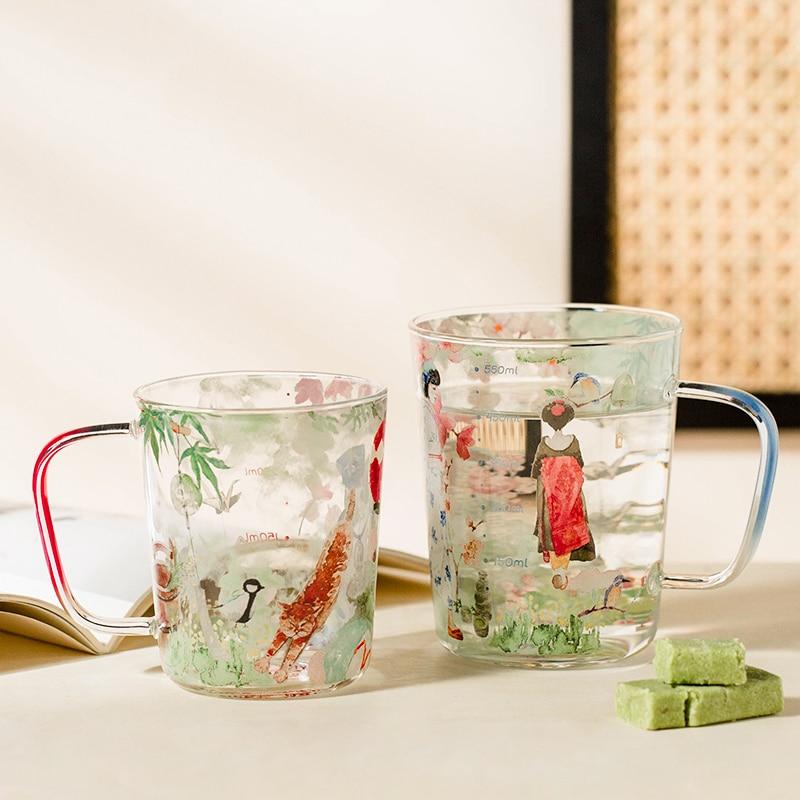 De color de vidrio creativa taza lindo moderno Simple de vidrio reutilizable...