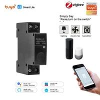 Zigbee     disjoncteur intelligent WiFi 1P Smart Life  telecommande  minuterie  interrupteur de retard avec Alexa google home pour maison intelligente