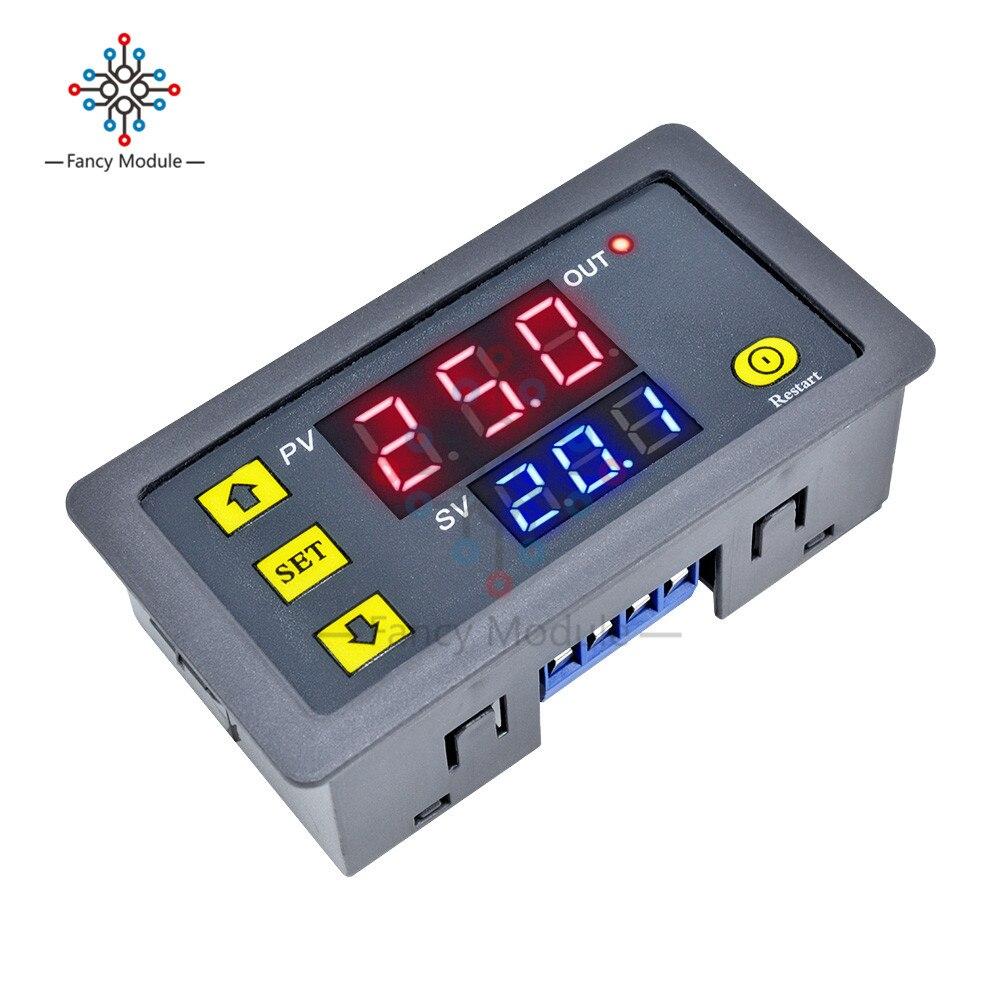 Ac110v 220v 12v led duplo display digital tempo de atraso módulo relé tempo tempo tempo tempo tempo tempo temporizador interruptor de controle do relé módulo relé