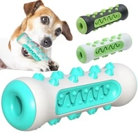 pet dog chew toys molar stick dog toothbrush toy tpr bone shape puppy cleaning chewing playing toys pet dental care supplies