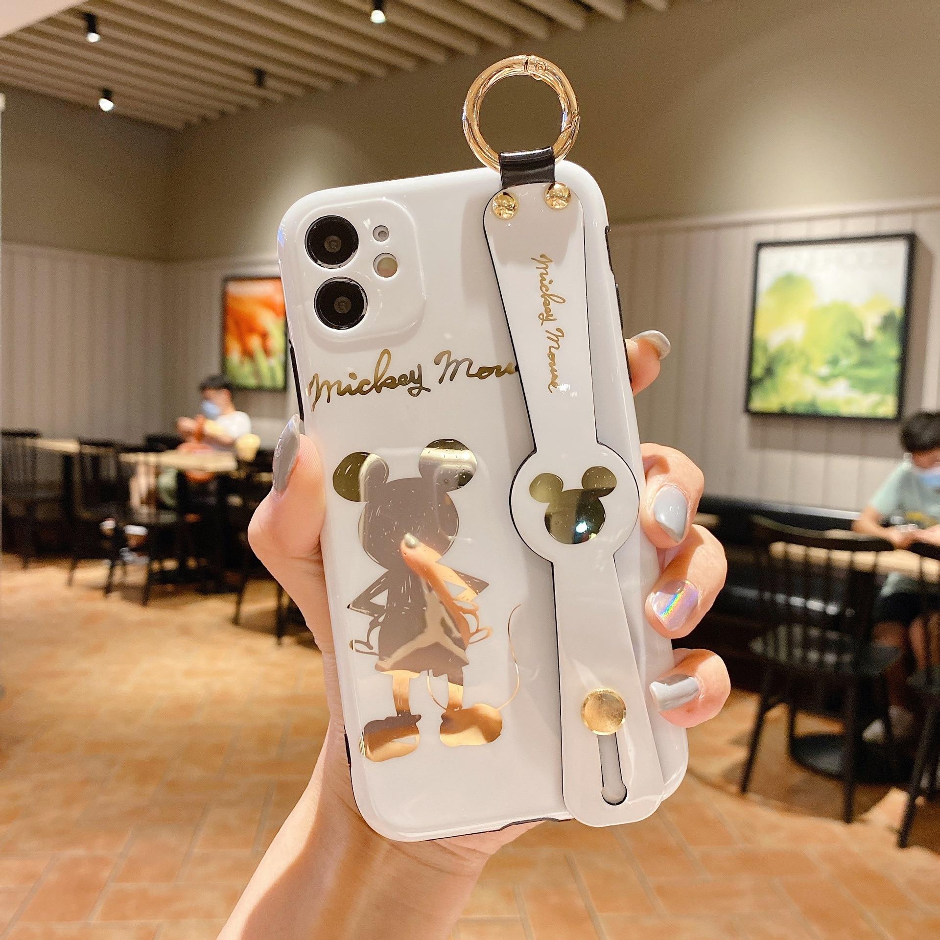 2021 Disney Mickey Minnie for iPhone 7 plus xr xs max 11/12pro max 12mini kawayi couple phone case
